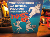 Detroit Tigers 1982 Program Vs Toronto Unscored