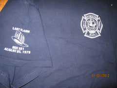 Plymouth Mass Fire Department Last Call T Shirt XL