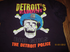 Detroit Police Bad Girls Purple T Shirt XL