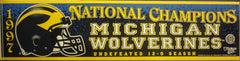 Michigan Football 1997 National Champions Bumper Sticker
