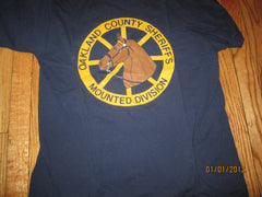Oakland County Sheriff Mounted Division T Shirt XL