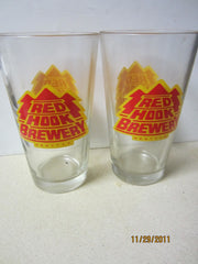 Red Hook Brewery Seattle Old Set Of Two Pint Glasses