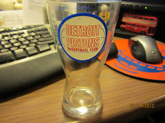 Detroit Pistons 1960's Shell Style Beer Glass