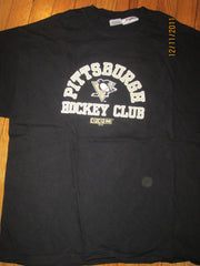 Pittsburgh Penguins Black Dual Logo T Shirt XL By CCM
