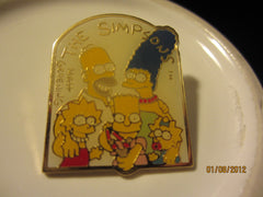 The Simpsons Family Photo 1990 Cloisonne Style Metal Pin