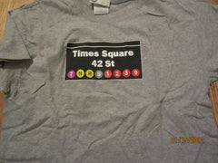 Times Square Subway Stop New York City T Shirt Large