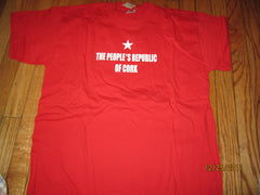 Cork Ireland People's Republic Of Cork Red T Shirt Large New