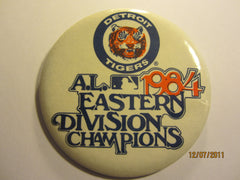 Detroit Tigers 1984 AL East Champs 3 1/2 Round Pin