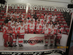 Detroit Red Wings 1997-1998 Team Photo Poster Stanley Cup Champions
