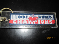 "Minnesota Twins 1987 World Champions Lucite Keychain 5"" Wide"