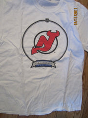 New Jersey Devils Stanley Cups T Shirt Large Bud Canada
