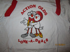 "Action Olds ""Love A DealsVintage 1978 Ringer T Shirt Large Detroit"