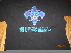 New Orleans Hornets Logo Black T Shirt Medium Adidas