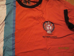 Holland 1974 World Cup Team Logo Ringer T Shirt XL