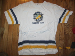 Oakland Seals Logo Jersey Style T Shirt Medium Bud Canada California Golden