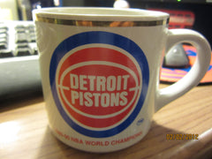 Detroit Pistons 1900 Back to Back NBA Champions Ceramic Coffee Mug