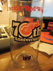 Detroit Red Wings 70th Anniversary Glass 1996 Speedway