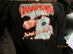 Detroit Red Wings 1994 Central Division Champs T Shirt Large By Starter