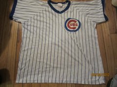 Chicago Cubs Pinstripe Jersey T Shirt XL Rawlings