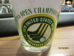 US Open Golf 1979 Inverness Club 4 Inch Tall Glass