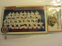 Detroit Tigers 1968 Team Photo Card & Pin Set Tiger Stadium Giveaway