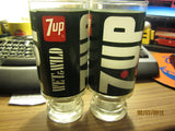 7 UP Vintage Set Of 2 Glasses