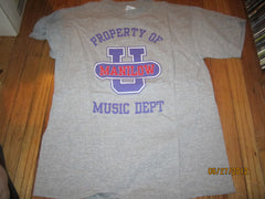 Barry Manilow  Property Of Music Dept Grey T Shirt XL