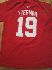 Detroit Red Wings #19 Steve Yzerman T shirt Kids Large