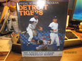 Detroit Tigers 1987 ALCS Program N.Mint