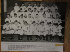 Detroit Tigers 1945 World Series Champions Team Photo