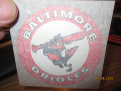 Baltimore Orioles Swing Bird 3 Inch Round Iron On 1970's