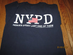 NYPD 9-11 T Shirt Medium New York Police Dept