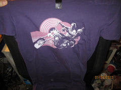 Easy Rider Peter Fonda Purple Vintage Fit T Shirt Ladies Large