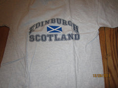 Edinburgh Scotland Flag Logo Grey T Shirt Large