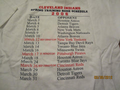 Cleveland Indians 2006 Spring Training Schedule Shirt Large Beef O'Bradys