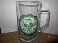 Michigan State University Crest Heavyweight Glass Beer Mug
