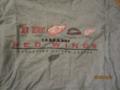 Detroit Red Wings Logo Evolution Long Sleeve Shirt XL Ebbets Field