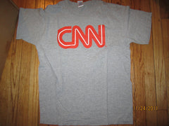 CNN Newtork Logo Grey T Shirt Large