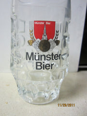 Munster Bier 0.25ltr Heavweight German Beer Glass Stein