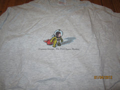 Curious George The First Space Monkey T Shirt XL