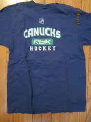 Vancouver Canucks Blue Practice Style T Shirt Medium Reebok