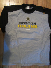 Boston Bruins Logo Grey Raglan T Shirt XL CCM