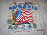 Honolulu Mayor's Parade 1991 T Shirt XL Military