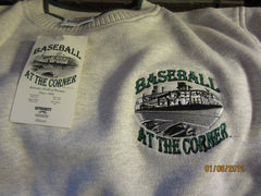 Detroit Tigers Baseball At The Corner Embroidered Logo Sweatshirt Medium New W/Tag Tiger Stadium