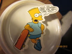 The Simpsons I'm Bart Simpson Who The hell Are You? 2 1/4 Cardbaord Pin 1990