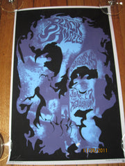 Black Angels & Warlocks Show Poster From Aquarium