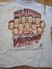Detroit Red Wings 1996 62 Victories T Shirt XL