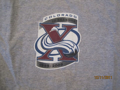 Colorado Avalanche 10th Anniversary 2005 T Shirt XL