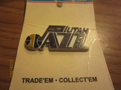 1990's Utah Jazz Old Logo Magnet Mint On Card