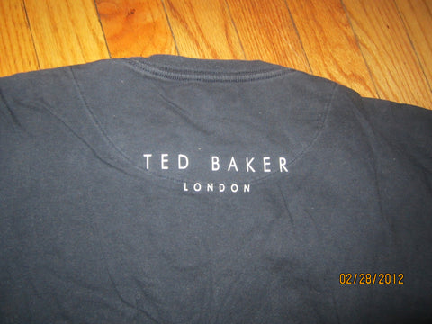 946e179a1 Lilmoxie — Ted Baker London Simple Logo Navy T Shirt Size 5 XL